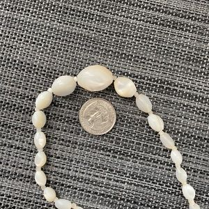 Pearl Jewelry - Antique Mother of Pearl Beads Necklace